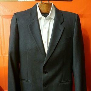Loro Piana mens Black suit jacket 40R Tasmanian